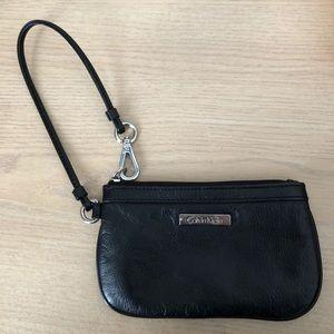 Black Calvin Klein Wristlet